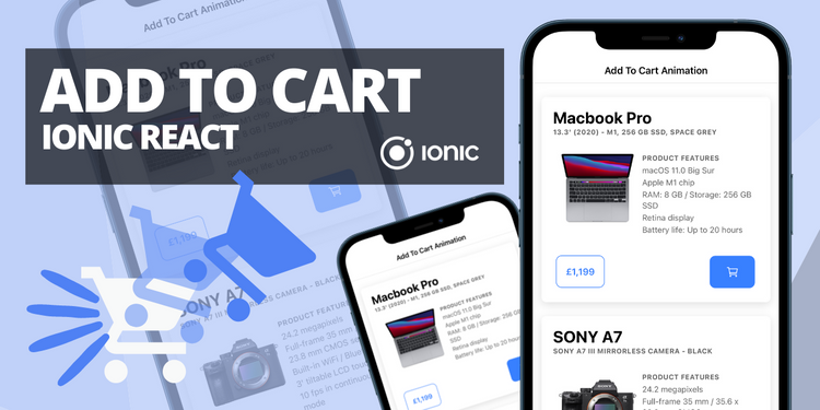 Add to cart component with animation