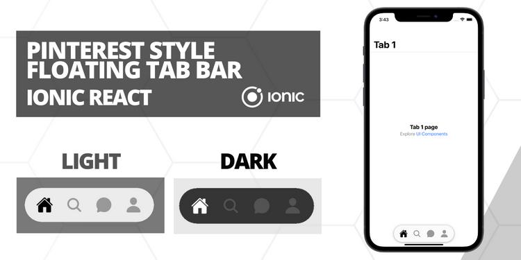 A pinterest styled floating tab bar