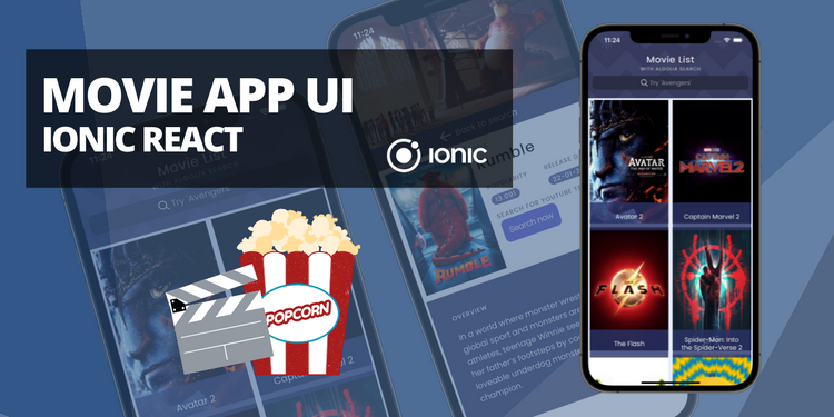 An example of a movie app with search
