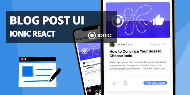 A UI for blog post list view and single view