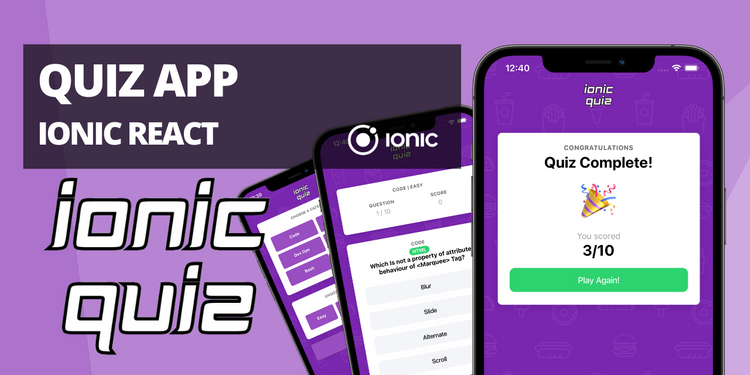 A quiz app, fetching questions and answers from API