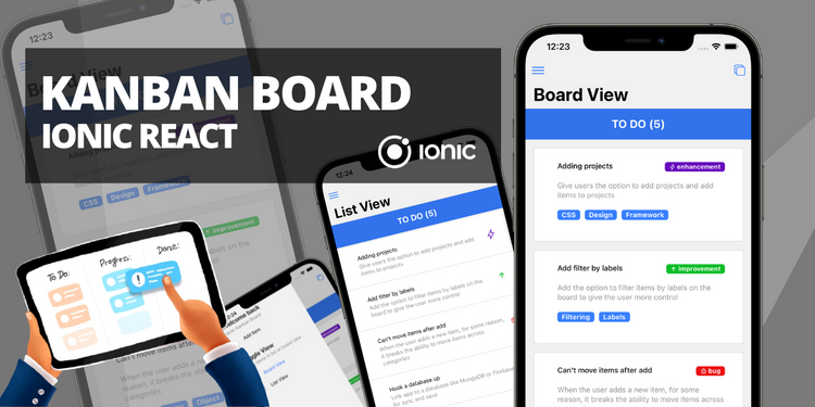 A kanban style project board with list view