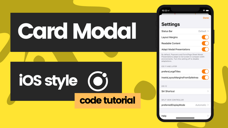 How to create a swipeable card style modal with Ionic Framework and React