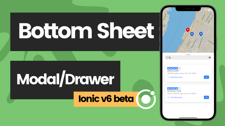 First look at the Bottom Sheet Drawer with map - V6 beta