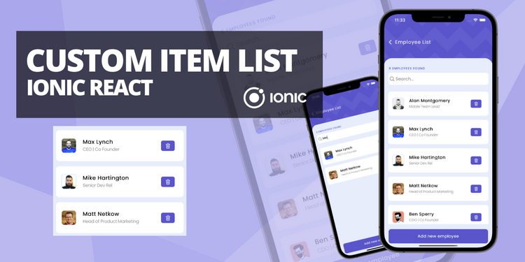 A custom, creative item list with features