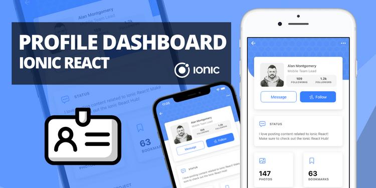 A profile dashboard style UI