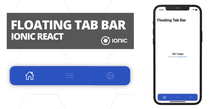 A floating tab bar component