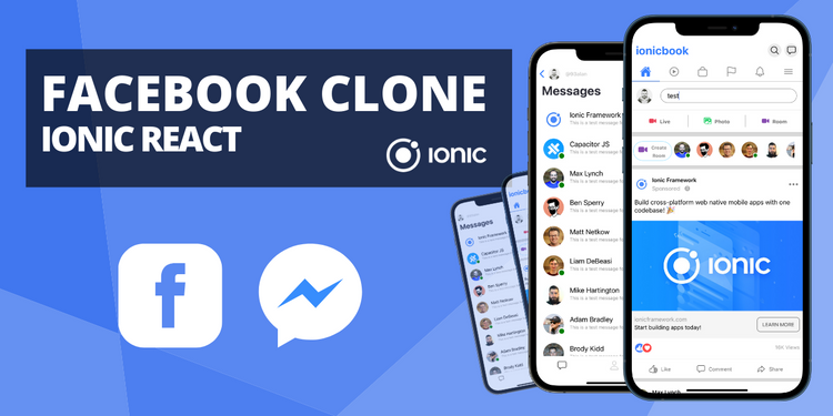 A clone of the facebook timeline and messenger